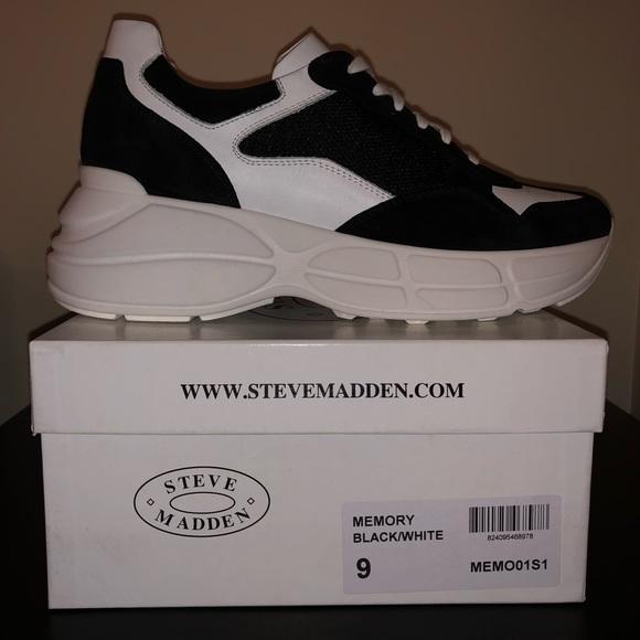 Steve Madden Memory Blackwhite Sneaker
